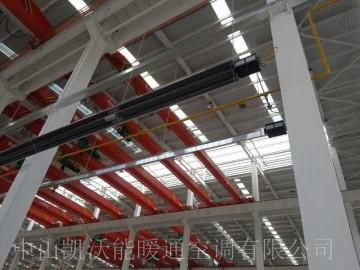 宁夏海原风电厂房使用低密度管式负压采暖设备LTV系列并联组合(H型)