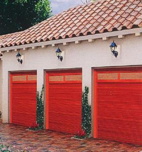 紅木色卷簾門