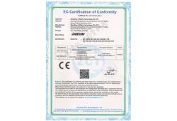 Copy of CE EMC certificate of Eurovision car advertising machine