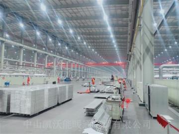 辽宁忠旺集团大打白1号厂房100000平米建筑模板车间安装使用LTS50-15N低密度管式辐射加热器398台