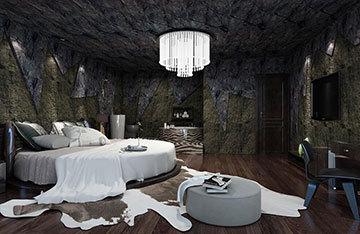 精简黑白装修设计仿古酒店