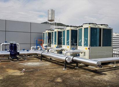 惠州仲愷某廠辦公樓風冷模塊主機制冷系統工程