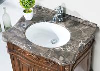 天然大理石浴室柜,让浴室更高级