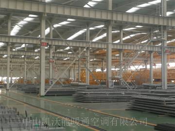 呼和浩特中朵远大40000平米钢构厂房使用HTC09型高密度陶瓷板辐射加热器220台