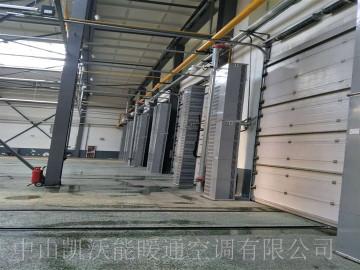 沈阳车辆段分公司车间大门使用燃气风幕机