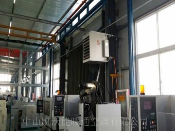 山东日照海恩锯业厂房使用轴流式间燃暖风机