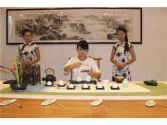 艾香茗茶书院万达旅游城茶艺演出活动