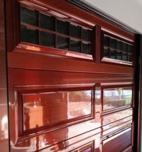 紫銅色帶天窗翻板門