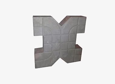 X型水泥色植草砖