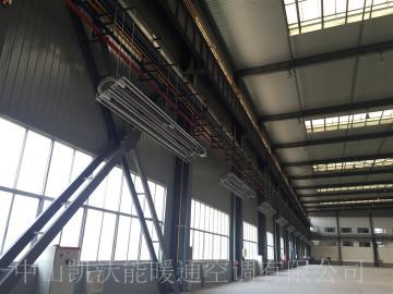 淄博鑫能能源集团车间供暖工程使用低密度管式正压辐射采暖设备(LTS系列)
