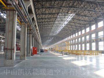 天津忠旺集团辽阳车厢厂供暖工程使用低密度管式正压辐射采暖设备(LTS系列)