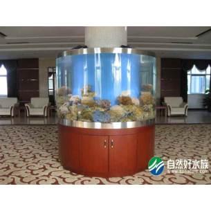 豪华圆柱形大厅鱼缸一