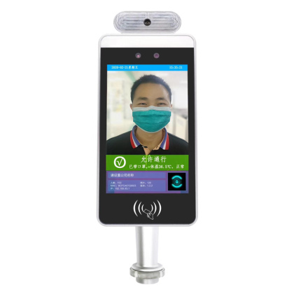 Face recognition system for temperature mask detection