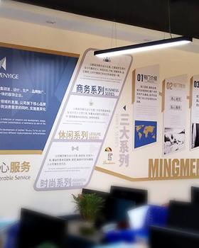 广州铭门服饰办公室文化墙