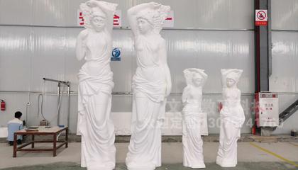 缪斯女神人物雕塑