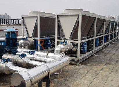 惠州河南岸某寫字樓風冷模塊主機制冷系統工程