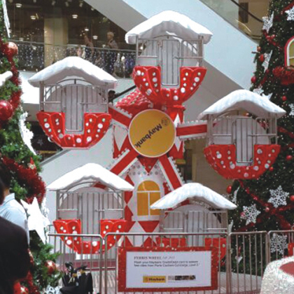 圣诞摩天轮Christmas ferris wheel