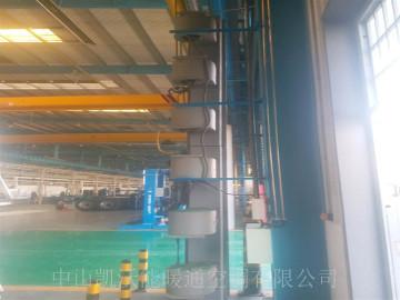石家庄中博汽车零部件厂房使用立式直燃式风幕机
