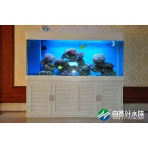 白色四方海水鱼缸