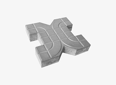 X型光面植草砖