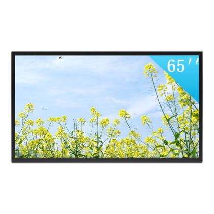 """Silver wall mounted infrared touch inquiry machine front 65 """""""