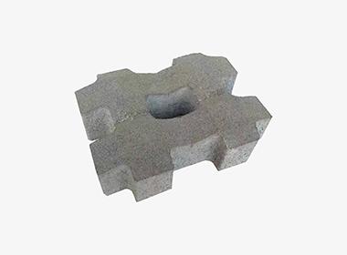 井字型灰色植草砖.