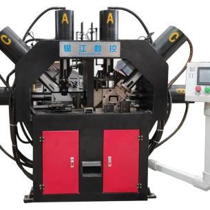 佛山银江机械槽钢冲床槽钢自动打孔机槽钢自动冲孔机厂家直销