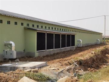 益客集團菏澤未來農場安裝雙正壓直燃式暖風機